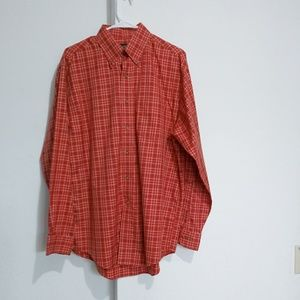 Brooks Brothers gingham plaid buttondown shirt